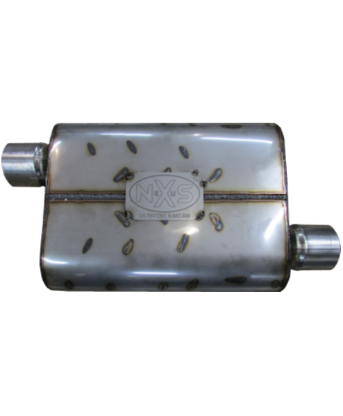 Nexus Mufflers 475 Series - Offset In/Opposite Offset Out