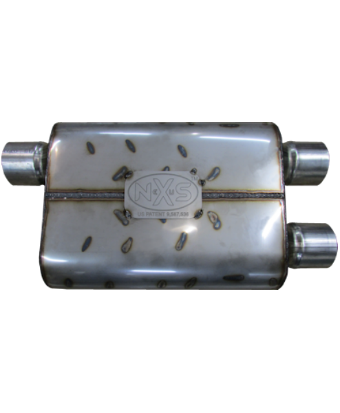 Nexus Mufflers 475 Series - Offset In/Dual Out