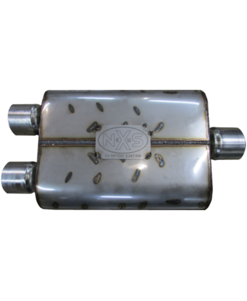 Nexus Mufflers 475 Series - Dual In/Center Out